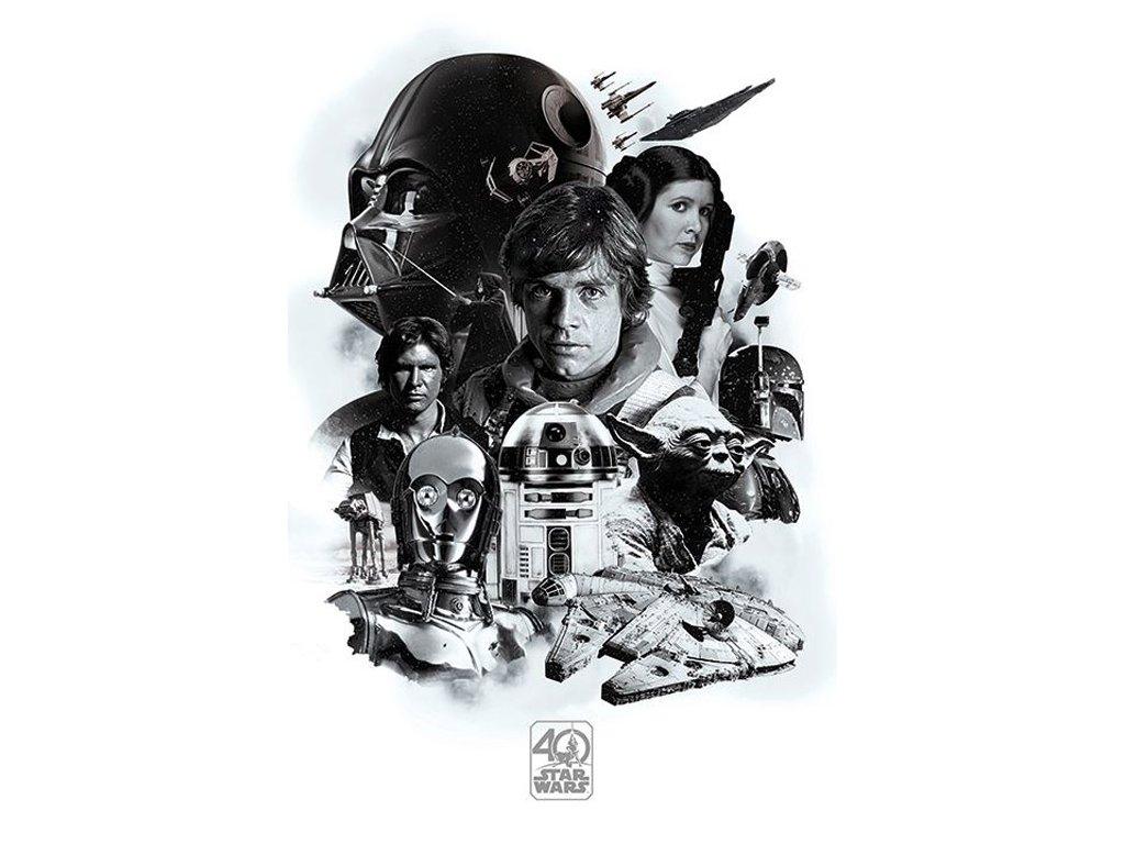 PLAKÁT 61 x 91,5 cm|STAR WARS  MONTAGE 40th Anniversary