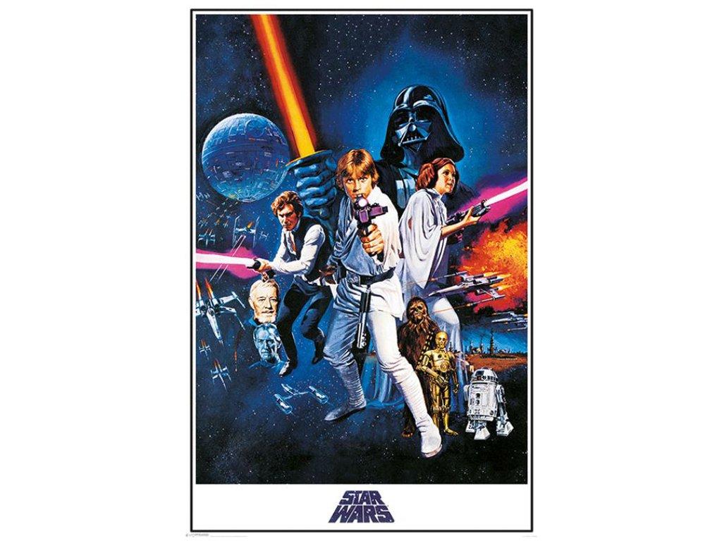 PLAKÁT 61 x 91,5 cm|STAR WARS  NEW HOPE|ONE SHEET