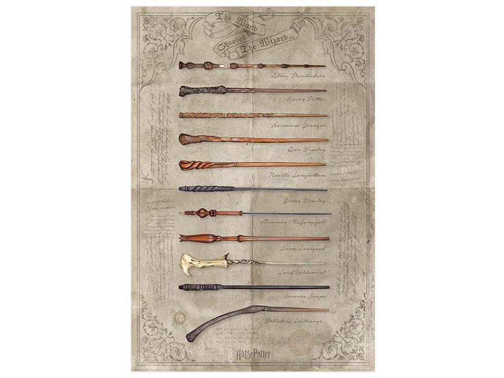 PLAKÁT 61 x 91,5 cm|HARRY POTTER  THE WAND CHOOSES THE WIZARD