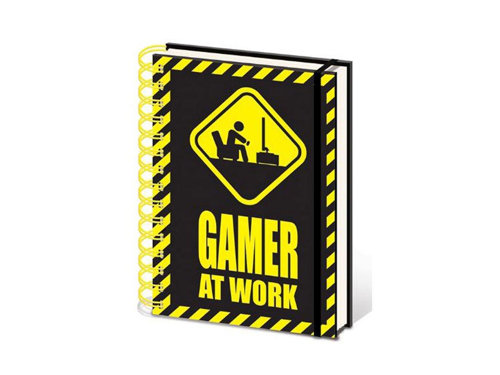 BLOK|ZÁPISNÍK A5|KROUŽKOVÁ VAZBA  WIRO|GAMING|GAMER AT WORK