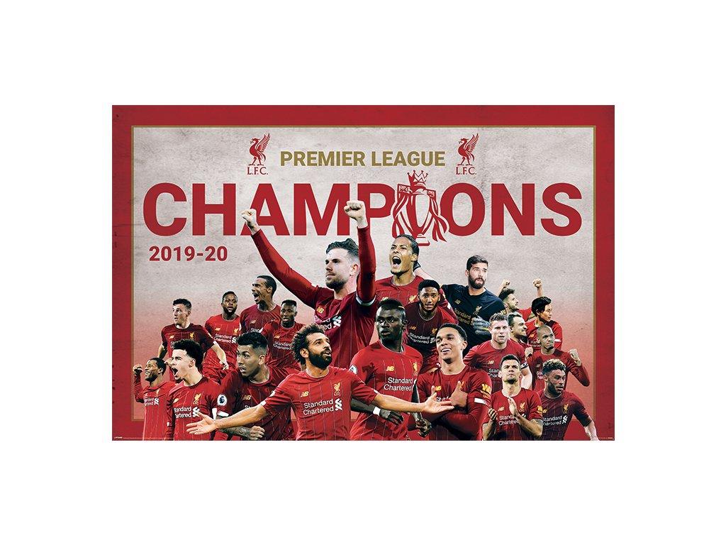 PLAKÁT 61 x 91,5 cm|LIVERPOOL FC  CHAMPIONS MONTAGE 2020