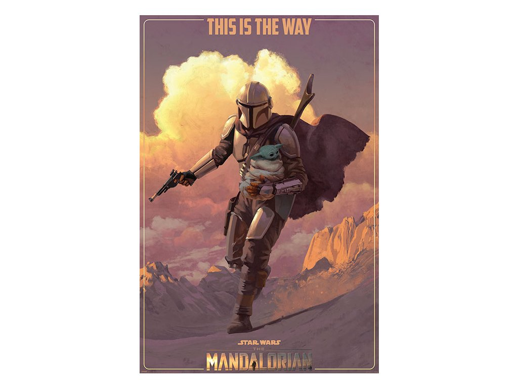 PLAKÁT 61 x 91,5 cm|THE MANDALORIAN  ON THE RUN