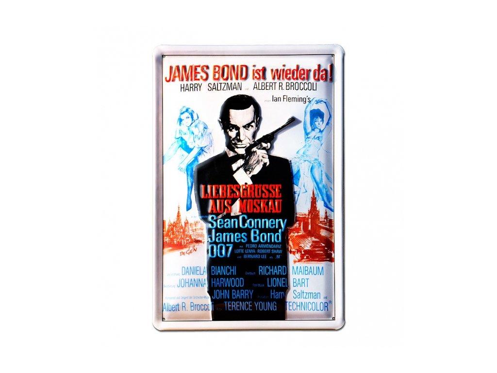 CEDULE NA ZEĎ A4|JAMES BOND 007  IST WIEDER DA!|20 x 30 cm
