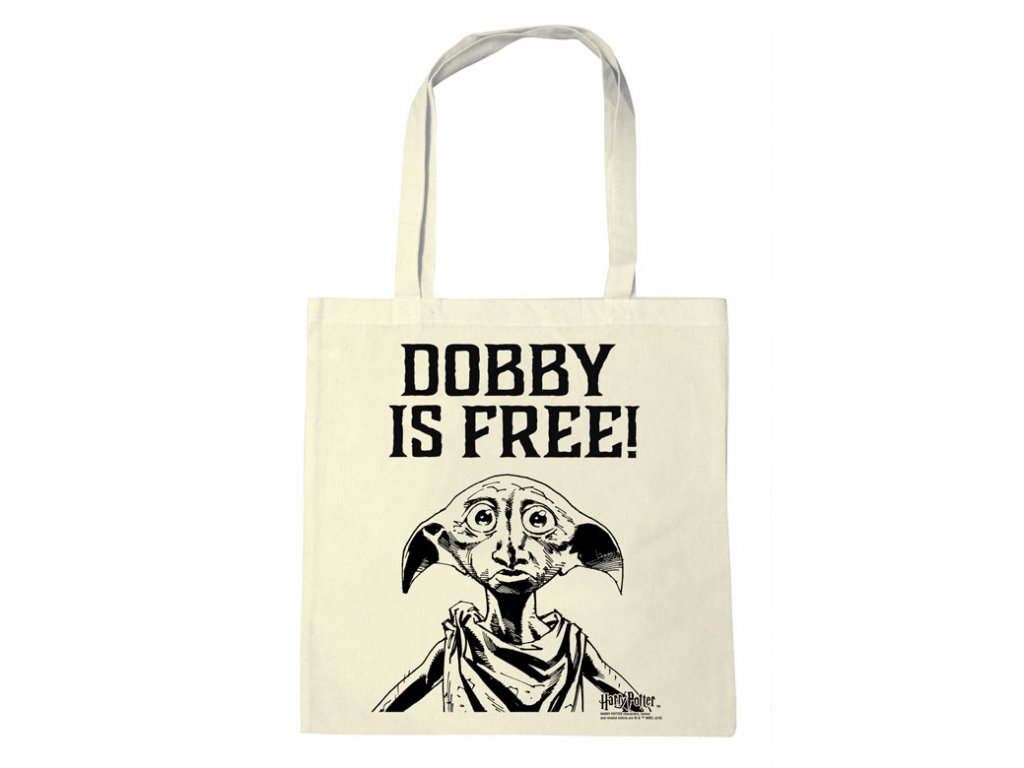 TAŠKA SHOPPING|HARRY POTTER  DOBBY IS FREE!|38 x 42 cm