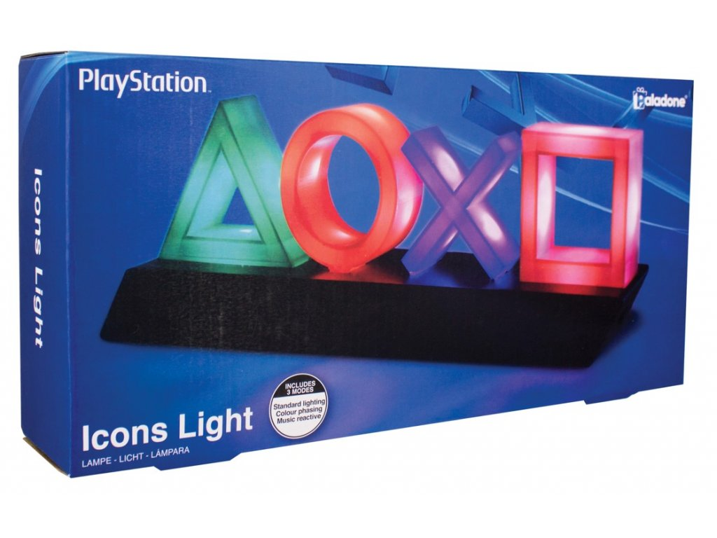 LAMPA DEKORATIVNÍ PLAYSTATION  ICONS LIGHT USB 31 x 11 x 7 cm