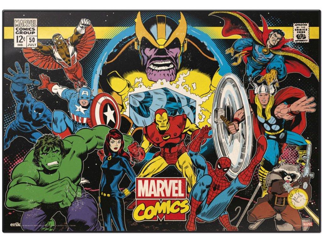 PODLOŽKA NA STŮL MARVEL COMICS  RETRO COLLAGE 49,5 x 34,5 cm