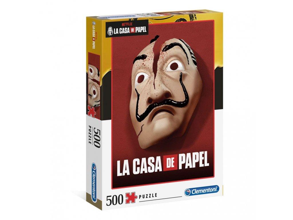 PUZZLE 500 KUSŮ|LA CASA DE PAPEL  MASK|49 x 36 cm