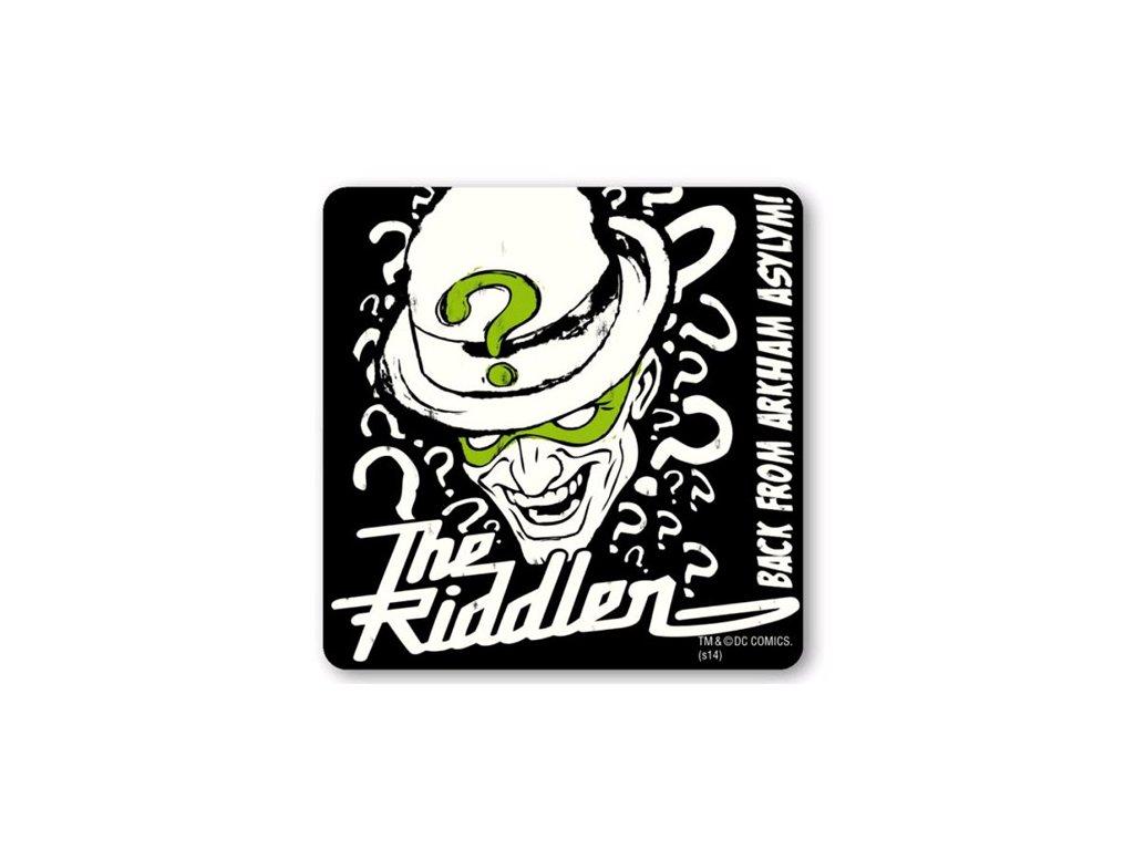 TÁCKY POD SKLENICE|BALENÍ 6 KUSŮ  BATMAN|THE RIDDLER(10 x 10cm)