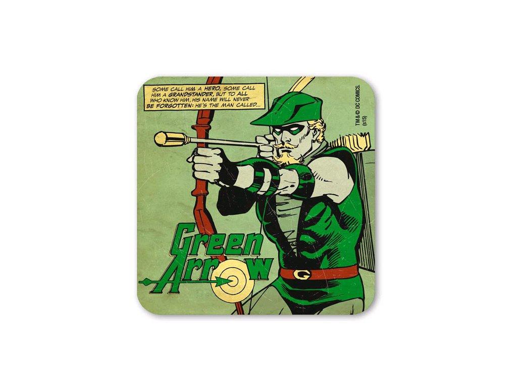 TÁCKY POD SKLENICE|BALENÍ 6 KUSŮ  DC COMICS|GREEN ARROW (10 x 10 cm)