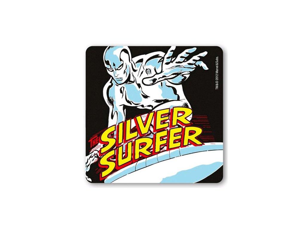 TÁCKY POD SKLENICE|BALENÍ 6 KUSŮ  MARVEL|SILVER SURFER (10 x 10 cm)