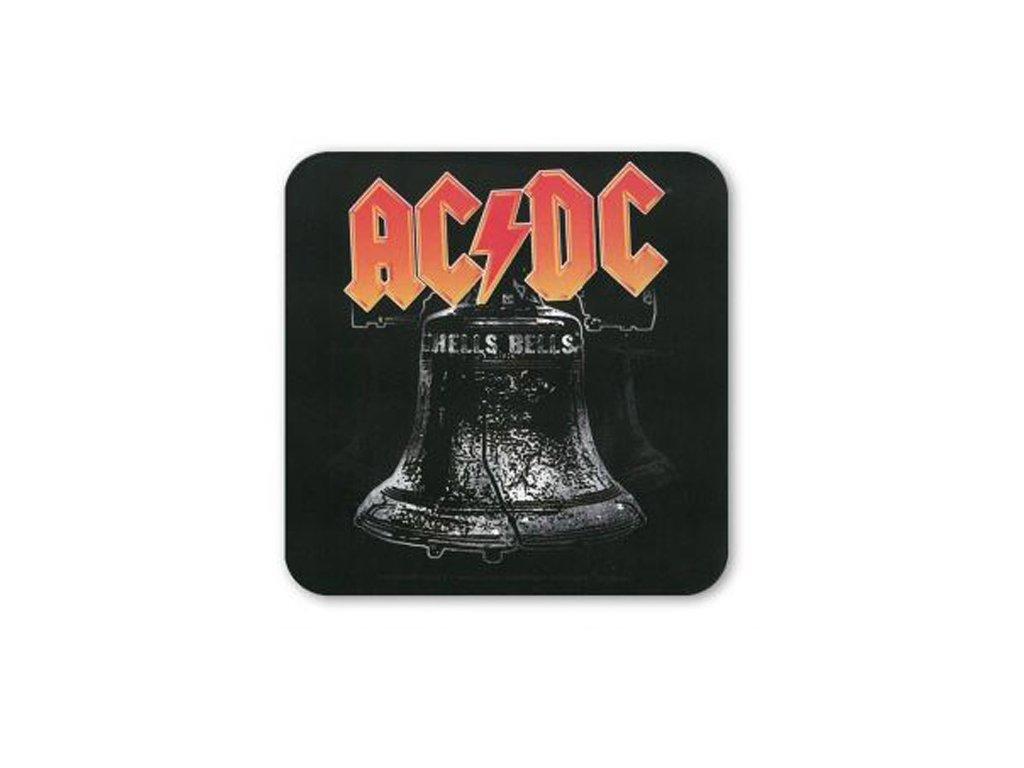 TÁCKY POD SKLENICE|BALENÍ 6 KUSŮ  AC/DC|HELL BELLS ROCK (10 x 10 cm)