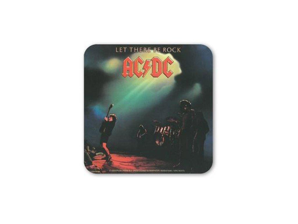 TÁCKY POD SKLENICE|BALENÍ 6 KUSŮ  AC/DC|LET THERE BE ROCK