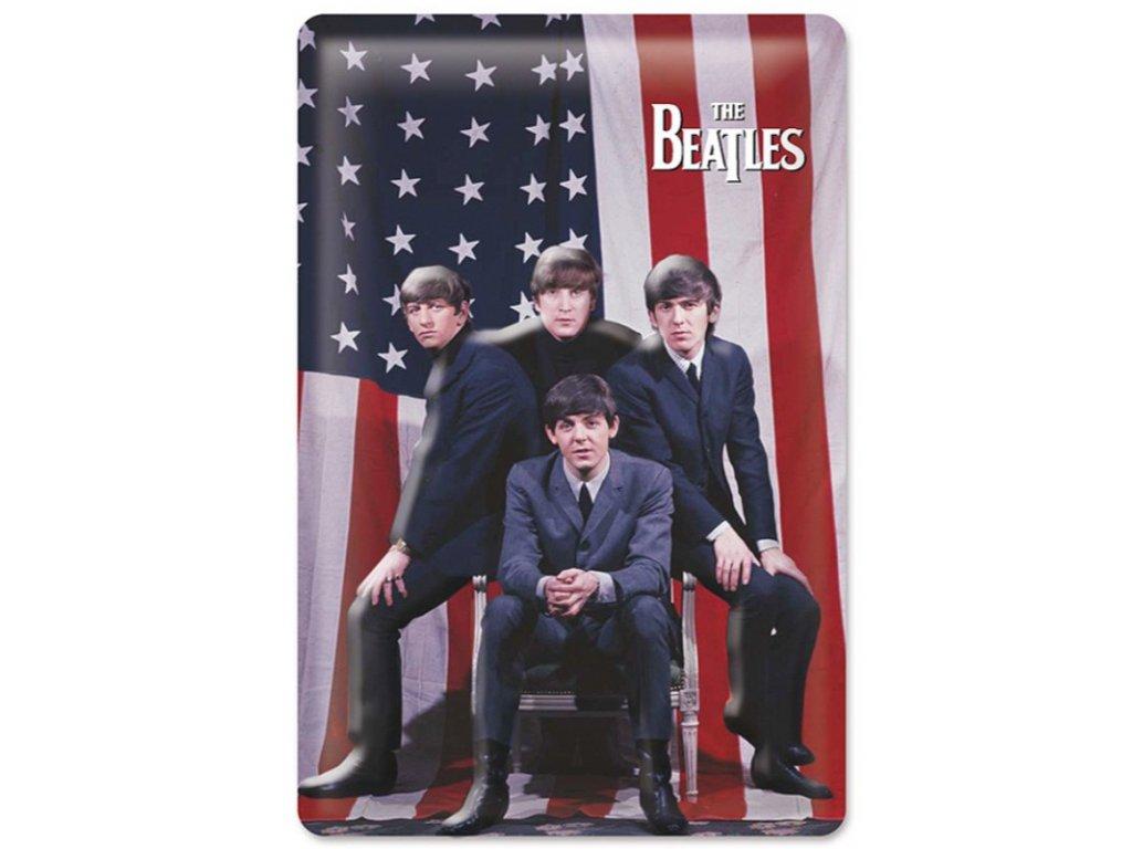 CEDULE NA ZEĎ|THE BEATLES  20 x 30 cm|3D US FLAGGE
