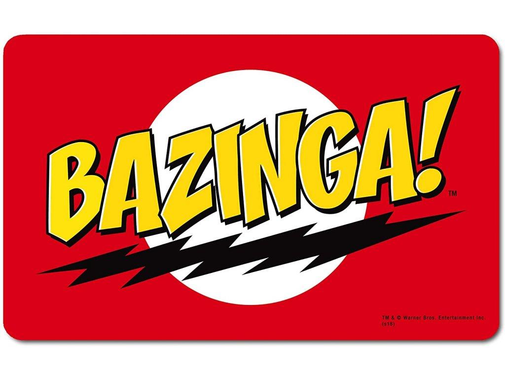 PROSTÍRÁNÍ NA STŮL|BIG BANG THEORY  23 x 14 cm|BAZINGA!|PLASTOVÁ