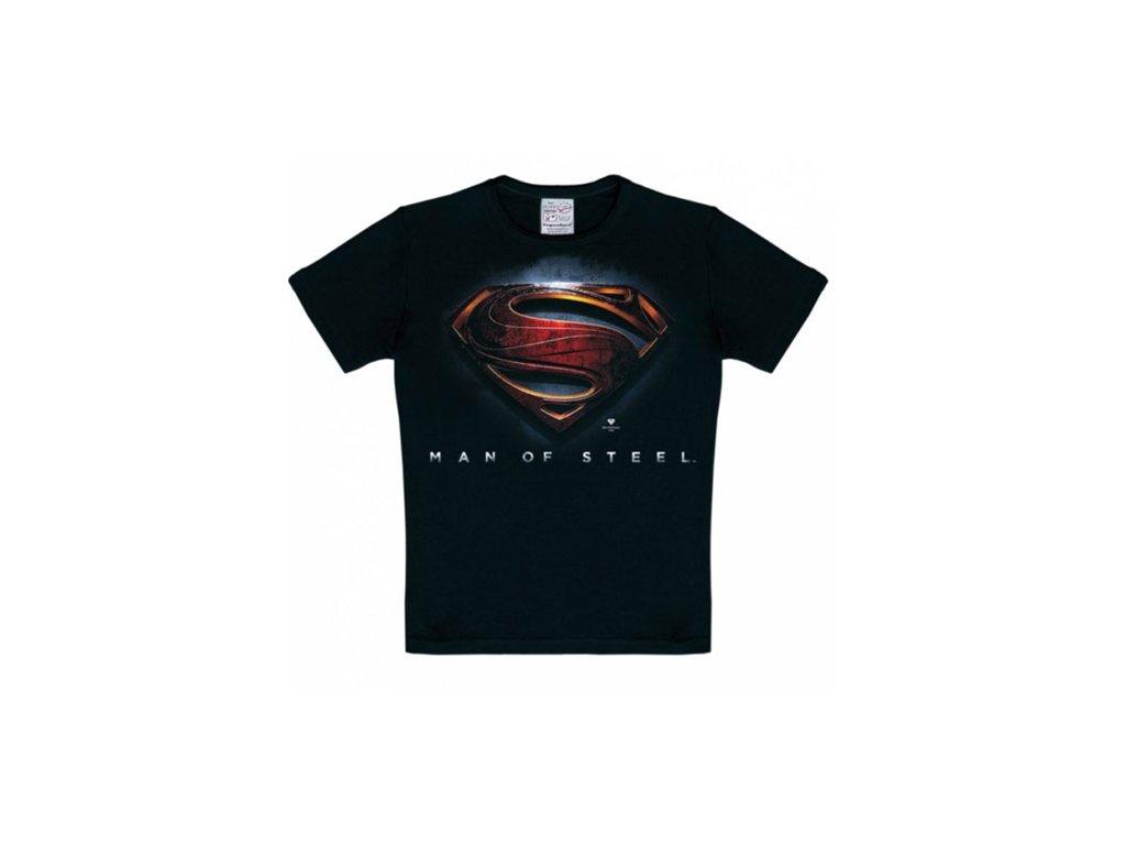 TRIČKO DĚTSKÉ/SUPERMAN  MAN OF STEEL/ČERNÉ