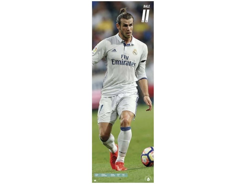 PLAKÁT 53 x 158 cm REAL MADRID FC  BALE 2016-2017