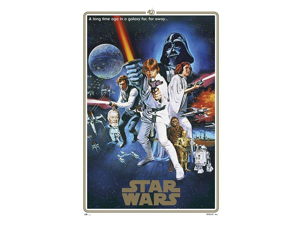 PLAKÁT 61 x 91,5 cm|STAR WARS  ONE SHEET|40th ANNIVERSARY