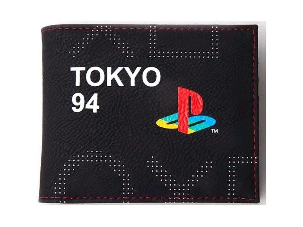 PENĚŽENKA OTEVÍRACÍ PLAYSTATION  LOGO & TOKYO 94 12 x 10 cm