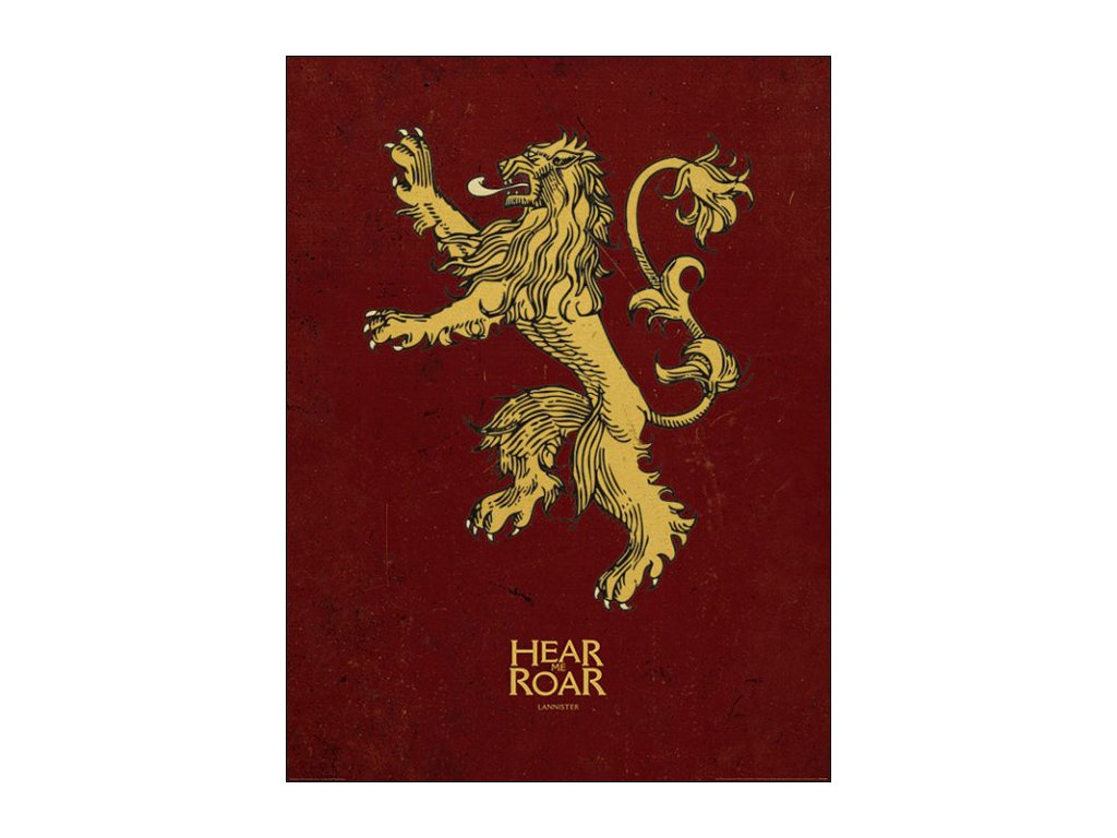 PLAKÁT 60 x 80 cm  GAME OF THRONES|LANNISTER|ART PRINT