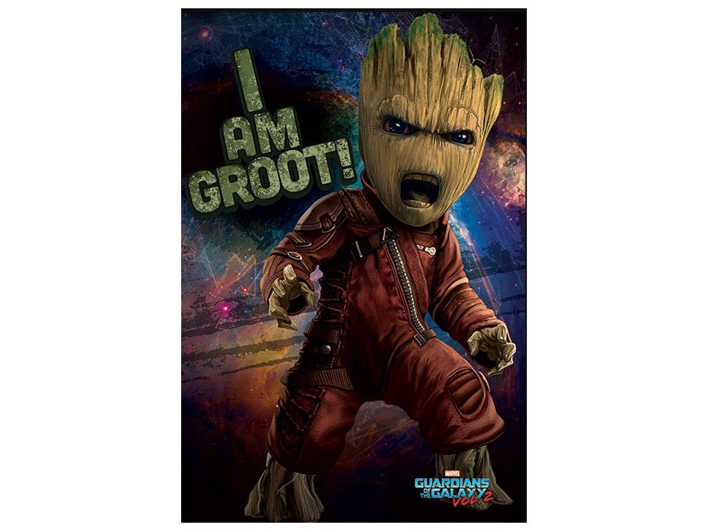 PLAKÁT 61 x 91,5 cm|MARVEL  GUARDIANS OF THE GALAXY 2|ANGRY
