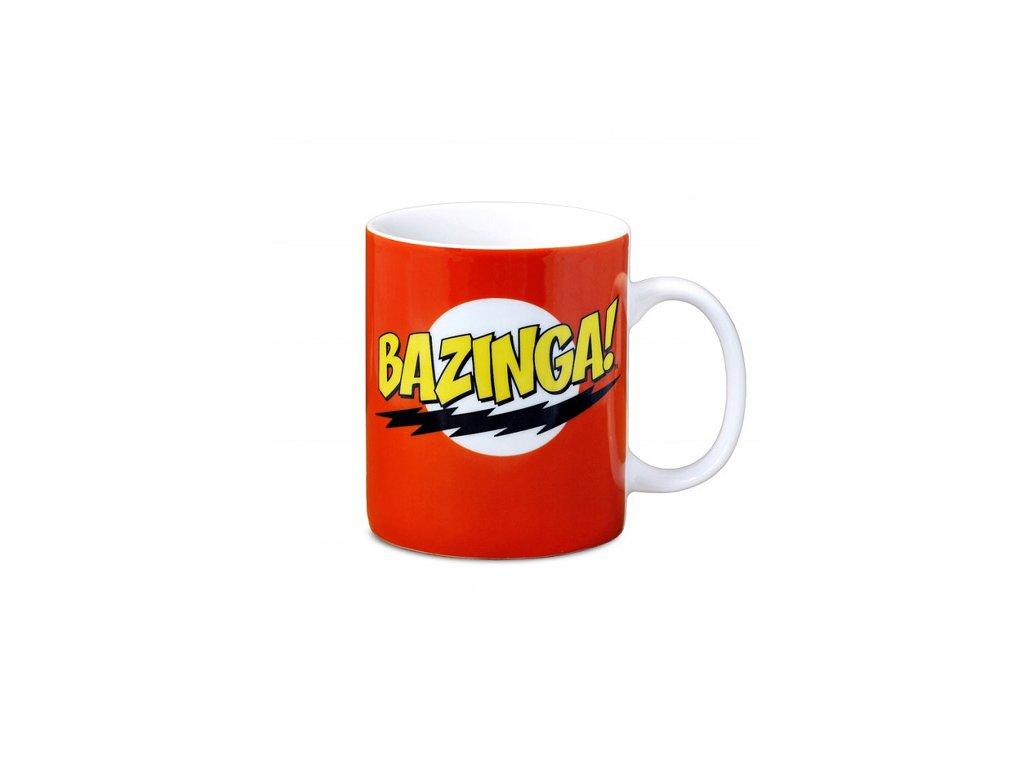 HRNEK KERAMICKÝ|BIG BANG THEORY  300 ml|BAZINGA|BÍLÝ