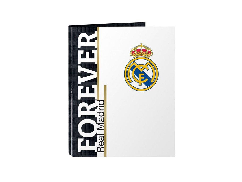 KROUŽKOVÝ POŘADAČ A4|REAL MADRID FC  A4|4 KROUŽKY|BÍLÝ|11954