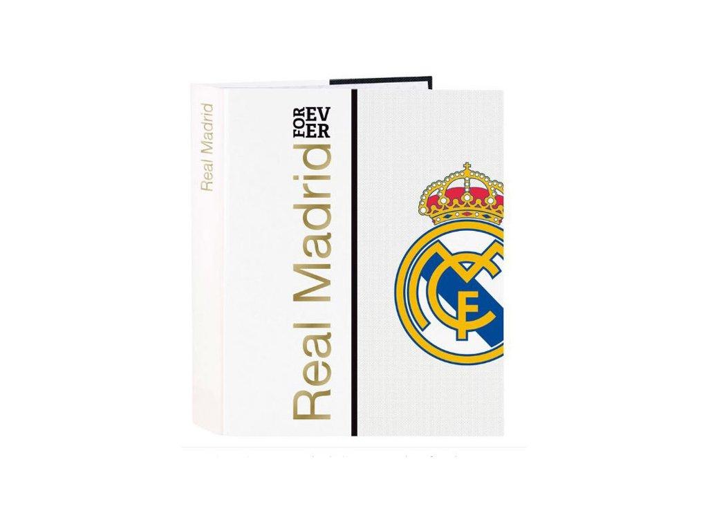 KROUŽKOVÝ POŘADAČ A4|REAL MADRID FC  A4|33 x 27 cm|BÍLÝ|ZNAK|11954