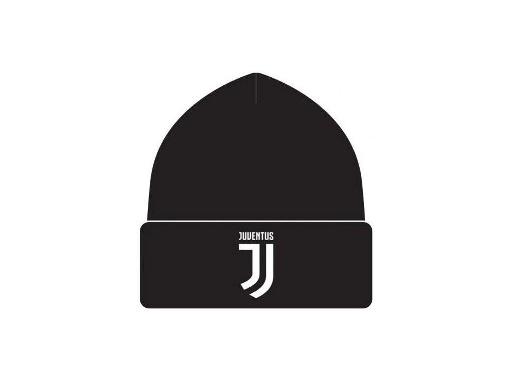 ČEPICE ZIMNÍ|JUVENTUS FC  LOGO|ČERNÁ|UNIVERSÁLNÍ