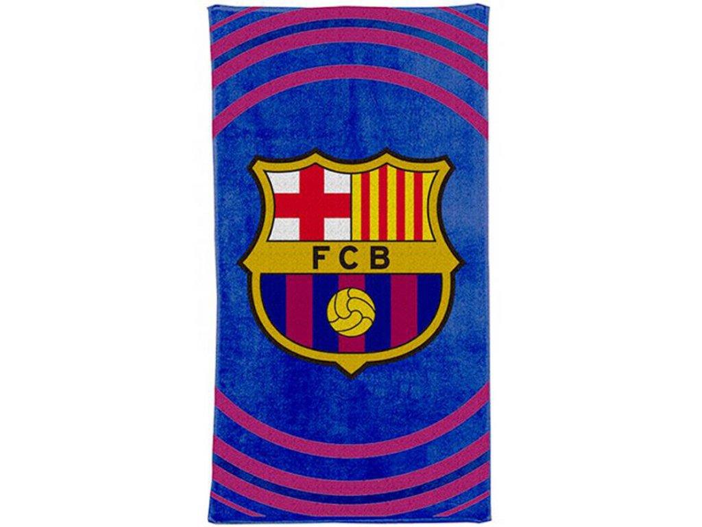 RUČNÍK OSUŠKA|BARCELONA FC  70 x 140 cm|PULSE|MODRÝ|BAVLNA