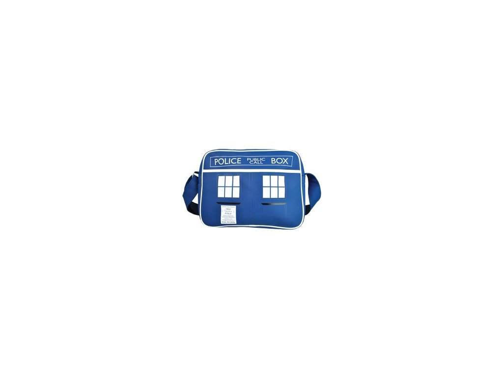 TAŠKA NA RAMENO|RETRO|DOCTOR WHO  50th TARDIS|38 x 27,5 cm|PVC