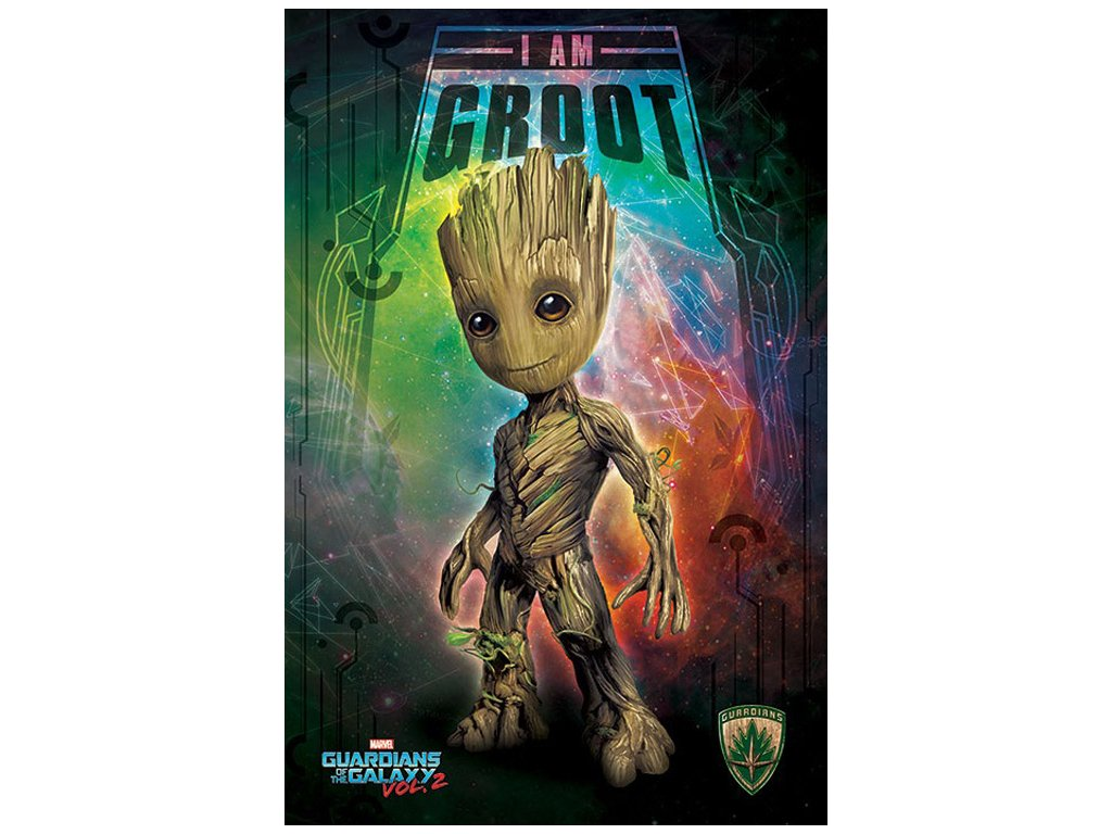 PLAKÁT 61 x 91,5 cm|MARVEL  GUARDIANS OF THE GALAXY|I AM GROOT