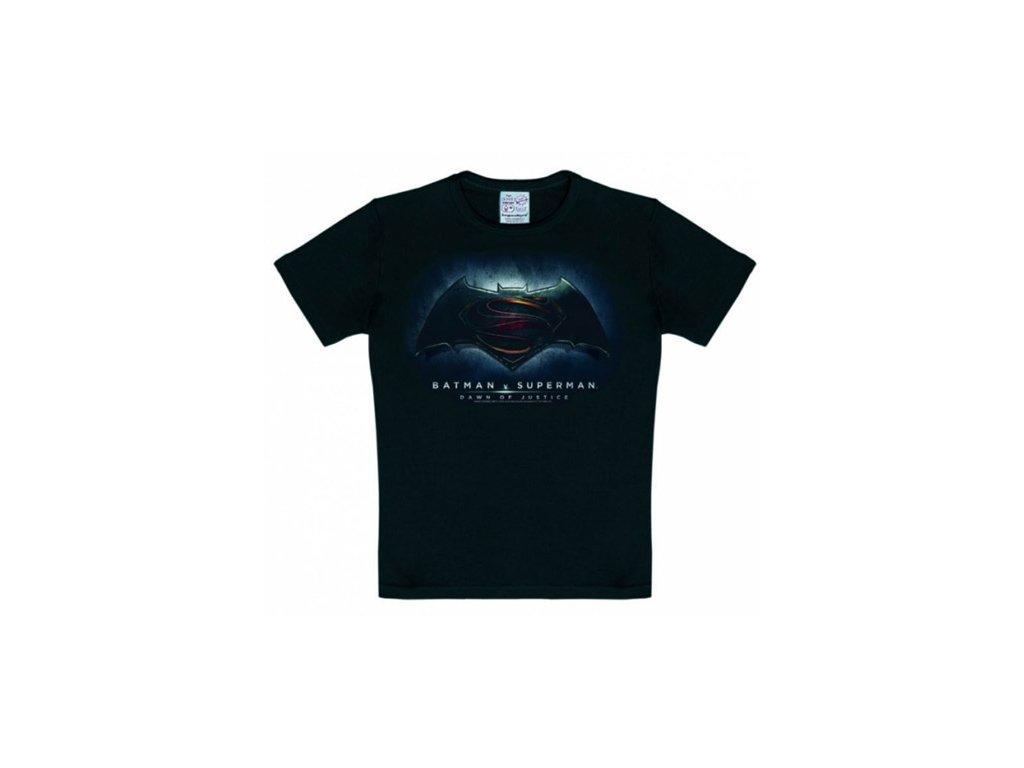 TRIČKO DĚTSKÉ/BATMAN VS SUPERMAN  LOGO/ČERNÉ