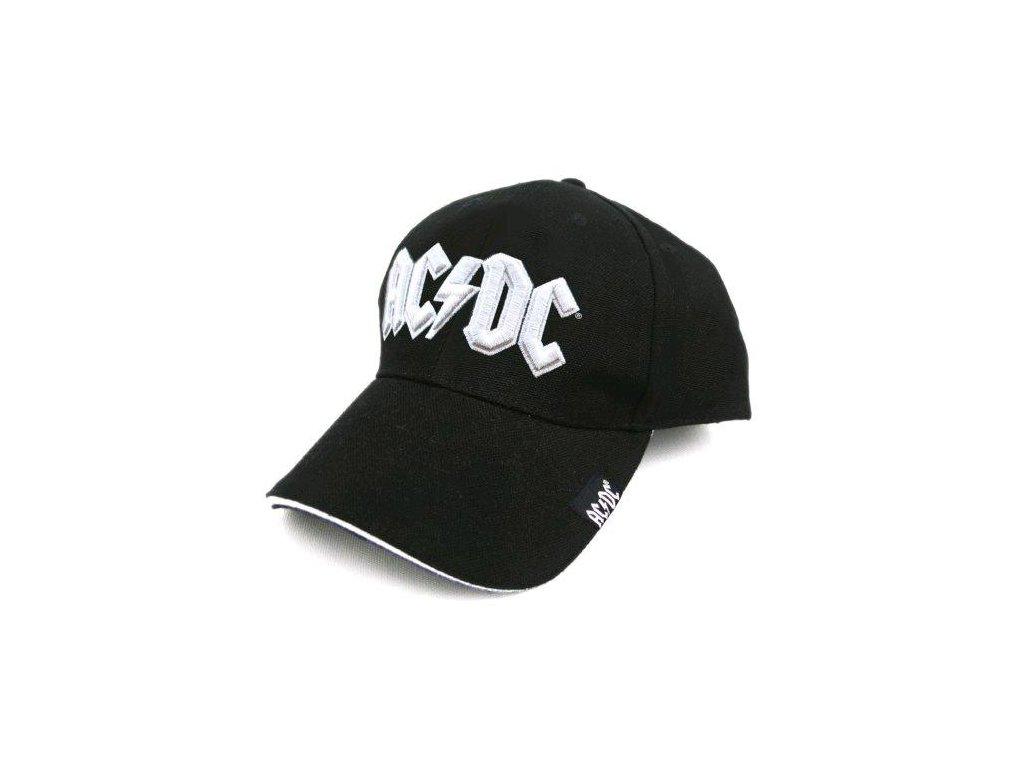 ČEPICE BASEBALLOVÁ|KŠILTOVKA  AC/DC|LOGO BÍLÉ|ČERNÁ