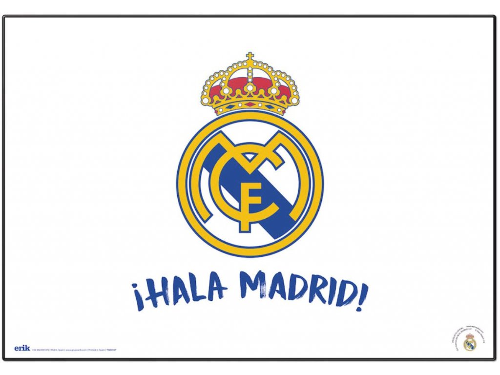 PODLOŽKA NA STŮL REAL MADRID FC  ZNAK - HALA MADRID 49,5 x 34,5 cm