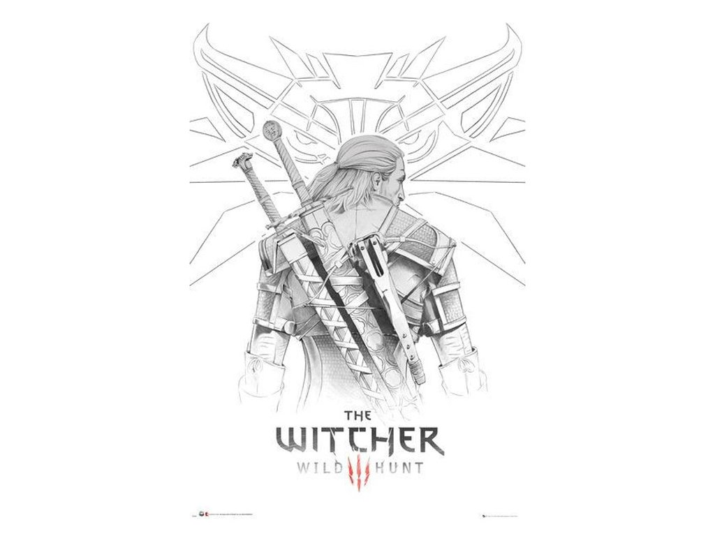 PLAKÁT 61 x 91,5 cm|THE WITCHER  THE WITCHER|GERALT SKETCH
