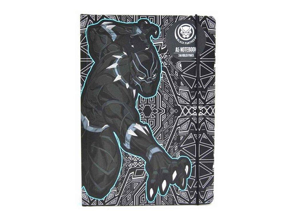 BLOK|ZÁPISNÍK A5|MARVEL  BLACK PANTHER|15 x 21 cm