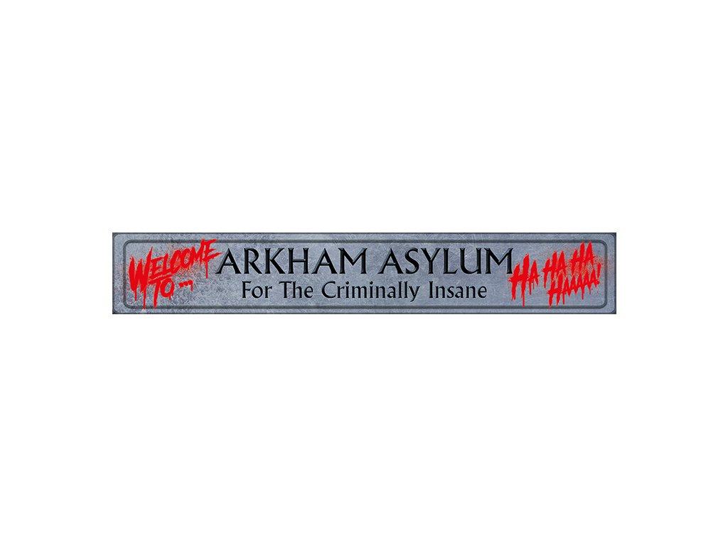 CEDULE MALBA NA DŘEVĚ 80 x 13 cm  THE JOKER WELCOME TO ARKHAM ASYLUM