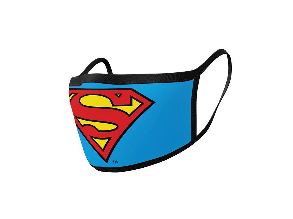 ROUŠKA NA ÚSTA|SET 2 KUSŮ  SUPERMAN|LOGO