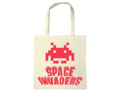 TAŠKA SHOPPING|SPACE INVADERS  ALIEN|38 x 42 cm|BAVLNA