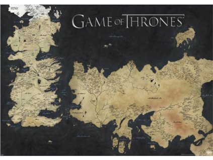 PLAKÁT 140 x 100 cm|GAME OF THRONES  WESTEROS & ESSOS