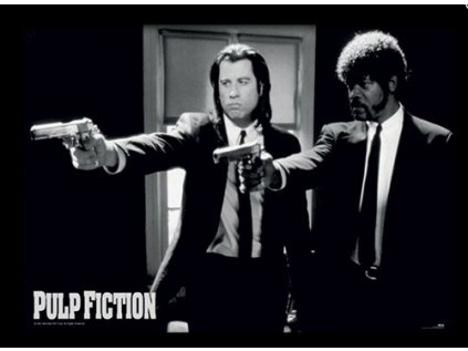 PLAKÁT V RÁMU 30 x 40 cm  PULP FICTION|GUNS