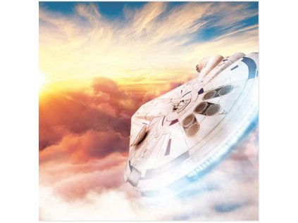 OBRAZ NA PLÁTNĚ CANVAS 40 x 40 cm  STAR WARS SOLO MILLENNIUM SUNSET