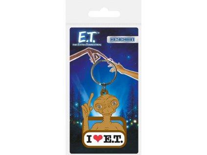 PŘÍVĚSEK NA KLÍČE|E.T.  I LOVE E.T.|5 x 6 cm