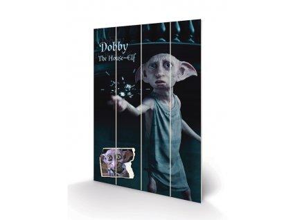 OBRAZ MALBA NA DŘEVĚ 40 cm x 59 cm  HARRY POTTER DOBBY