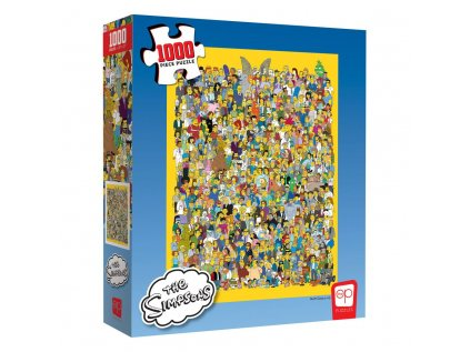PUZZLE|THE SIMPSONS  CAST OF THOUSANDS|1000 KUSŮ