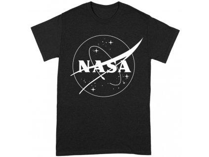 TRIČKO PÁNSKÉ|NASA  INSIGNIA LOGO BW|ČERNÉ