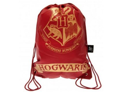 PYTLÍK GYM BAG|HARRY POTTER  HOGWARTS|23 x 17 x 3 cm|ČERVENÝ