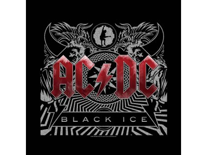 ŠÁTEK|AC/DC  BLACK ICE|55 x 55 cm|ČERNÝ