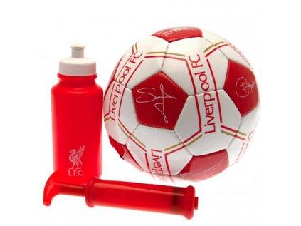 DÁRKOVÝ SET FOTBALISTY|LIVERPOOL FC  MÍČ 5|LÁHEV 500 ml|PUMPA