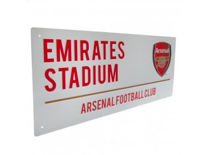 CEDULE NA ZEĎ|ARSENAL FC  STREET SIGN|ZNAK|BÍLÁ|40 x 18 cm
